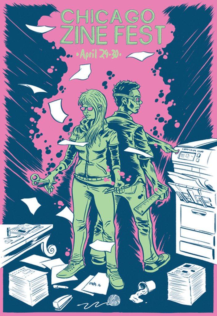 chicagozinefest2016 poster art by Erik Rodriguez
