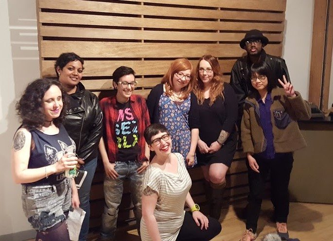 Several of the readers from Friday night. Image courtesy Chicago Zine Fest.