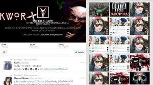 Screenshot showing the DarcWorX Twitter feed.