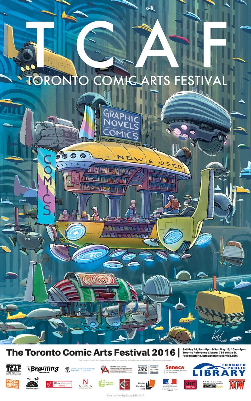 TCAF 2016 Poster by Kazu Kibuishi. Comics.