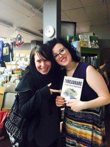Delia Jean (right) with Threadbare. Image courtesy Delia Jean.