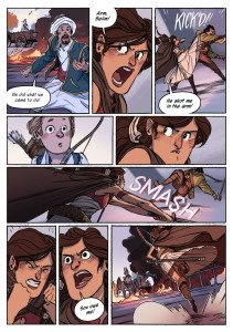 Delilah Dirk and The King's Shilling by Tony Cliff. First Second. 2016. Page 24.