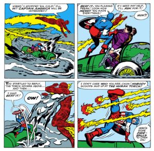 Strange Tales #114, written by Stan Lee, Drawn by Jack Kirby, inked by Dick Ayers, and lettered by Sam Rosen.
