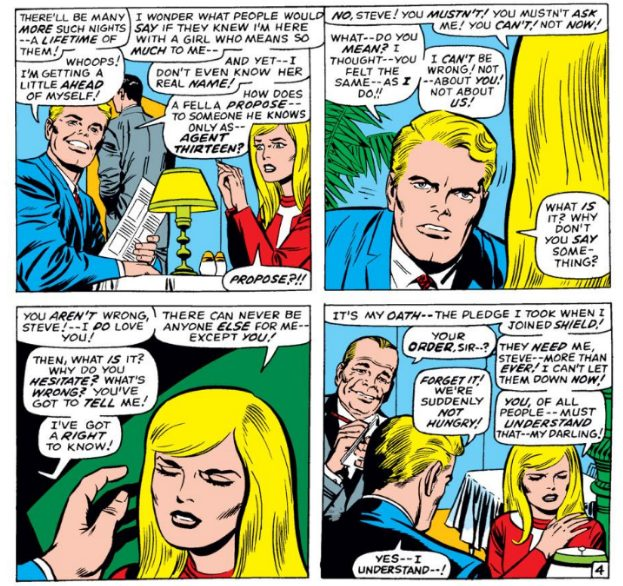 Tales of Suspense #95, written by Stan Lee and Jack Kirby, drawn by Jack Kirby, inked by Joe Sinnott, lettered by Artie Simek