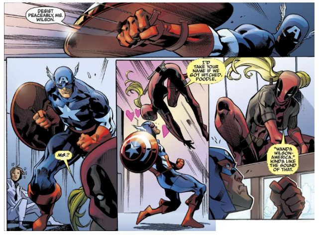 Lady Deadpool #1, written by Mary Choi, pencilled by Ken Lashley, inked by Tim Townsend and Andrew Hennessy, colored by Nolan Woodard, lettered by Jeff Eckleberry