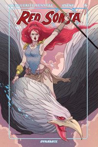 Red Sonja Vol 3, issue 6, cover by Marguerite Sauvage, Dynamite, 2016