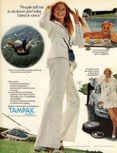 vintage ad for tampax