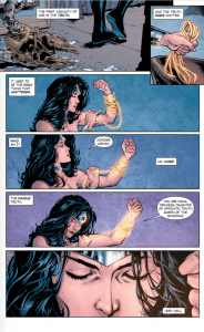 Wonder Woman Rebirth #1. Greg Rucka (Writer), Matthew Clark/Liam Sharp (Penciler), Sean Parsons (Inker), Jeremy Colwell/Laura Martin (Colourists), Jodi Wynne (Letterer), and Liam Sharp/Laura Martin (Cover). DC Comics. June 8th, 2016