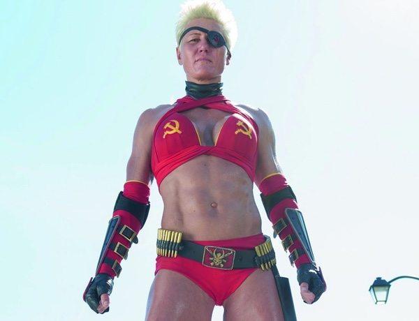 Olga Kurkulina as Mother Russia in Kick Ass 2