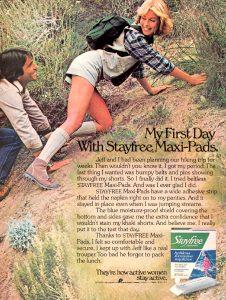 vintage feminine hygiene ad pursettes