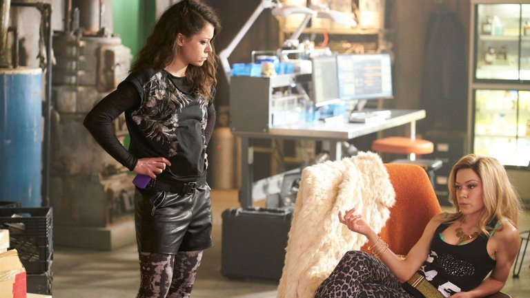 Sarah and Kyristal meet in the Orphan Black season four finale.