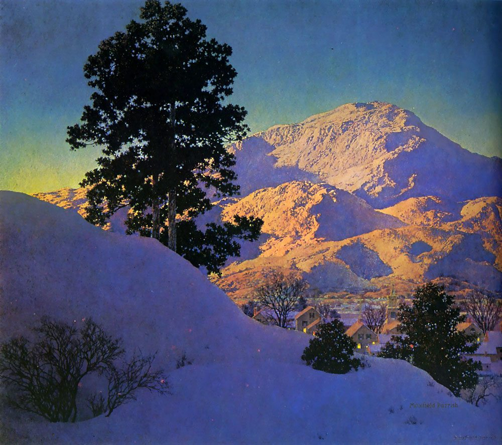 Maxfield Parrish Winter Sunrise 1949