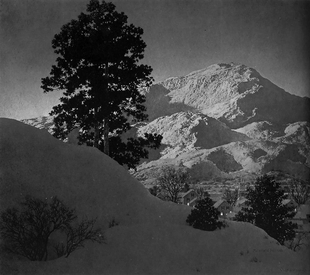 Maxfield Parrish Winter Sunrise 1949 (Value Only)