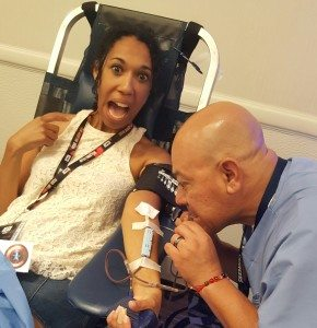 Wendy Browne at the SDCC 2016 Blood Drive