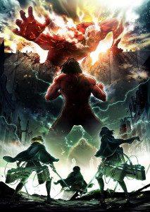 Attack on Titan season 2 poster. Original story by Hajime Isayama. Kodansha/Studio Wit.