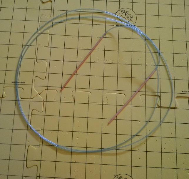 The finished circular, which measures 81 1/2 inches from tip to tip.