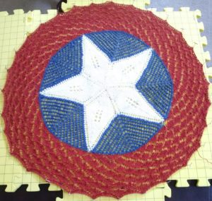 The pinned shield after the completed red ring.
