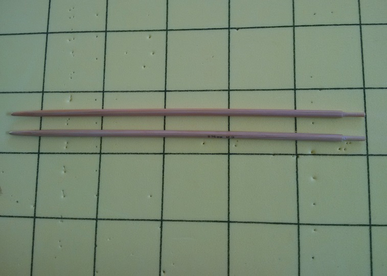 My naked and stripped needles.