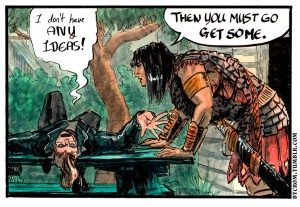 By Crom! by Rachel Kahn via wealdcomics.com