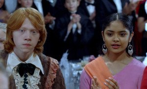 Ron Weasley (Rupert Grint) and Padma Patil (Afshan Azad) in Goblet of Fire / Copyright Warner Bros. Entertainment Inc.