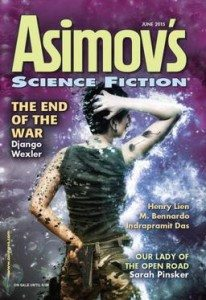 Cover of Asimov's, June 2015 issue.
