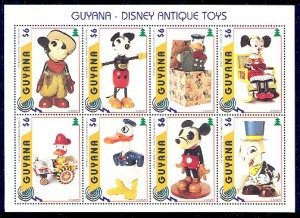 Disney antique toys guyana stamps