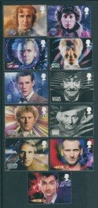 Doctor Who Great Britain stamps 1