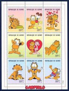 Garfield Guinea stamps