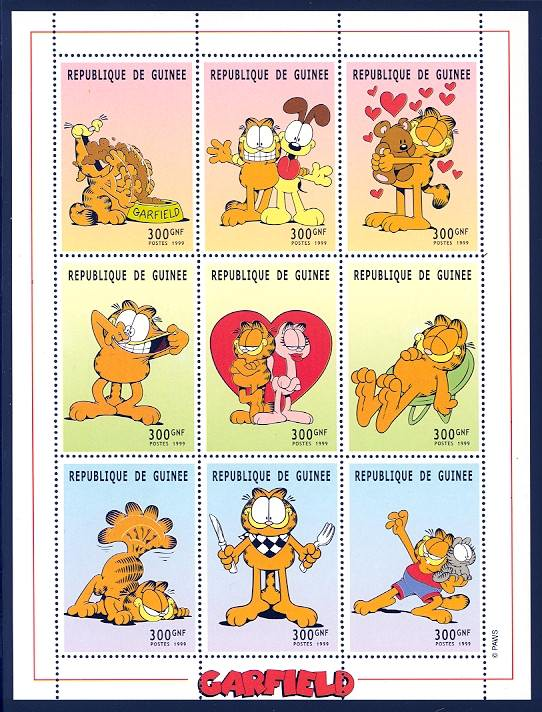 Garfield Guinea stamps