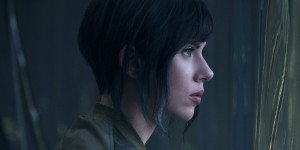 Scarlett Johansson in Ghost in the Shell, photo by Paramount Pictures