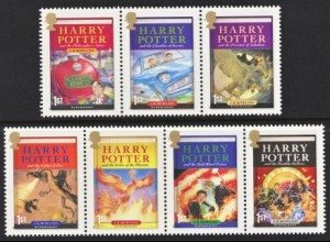 Harry Potter Great Britain Stamps