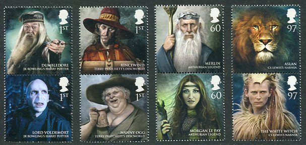 Magical Realms Great Britain Stamps