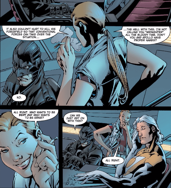 from The Authority #3 by Warren Ellis and Bryan Hitch