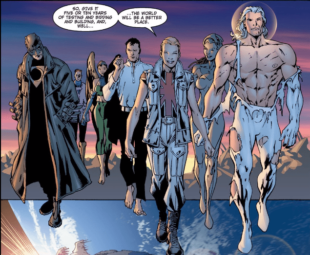 from The Authority #4 by Warren Ellis and Bryan Hitch