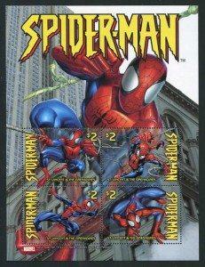 Spiderman st vincent stamps