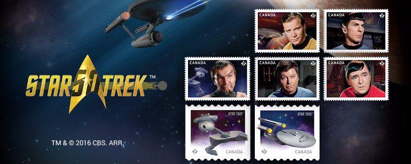 Star Trek Canada Stamps
