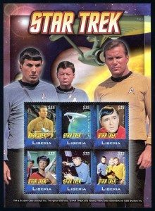 Star Trek Liberia stamps