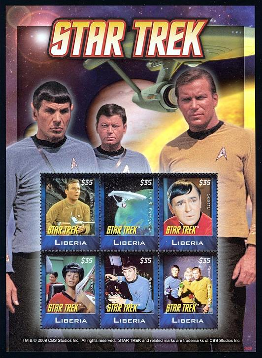 Star Trek Liberia stamps