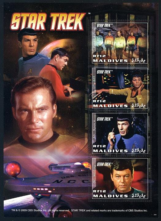 Star Trek Maldive Stamps