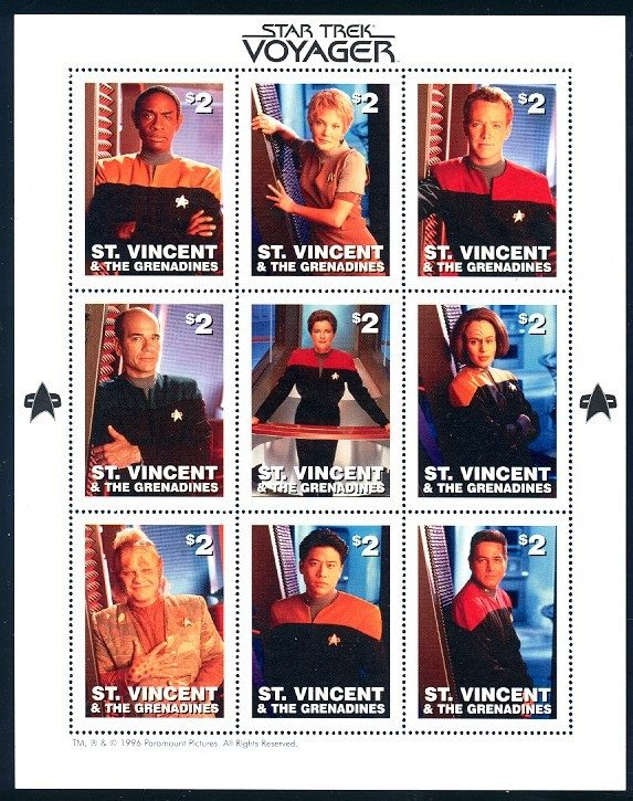 Star Trek Voyager st vincent stamps