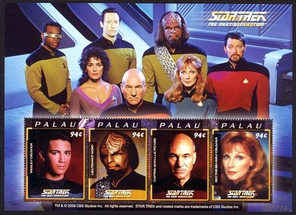 Star Trek next generation Palau Stamps
