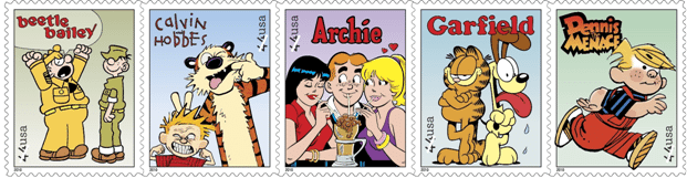 usps stamps sunday funnies
