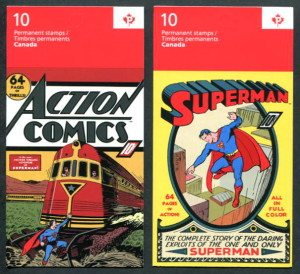 superman canada stamps