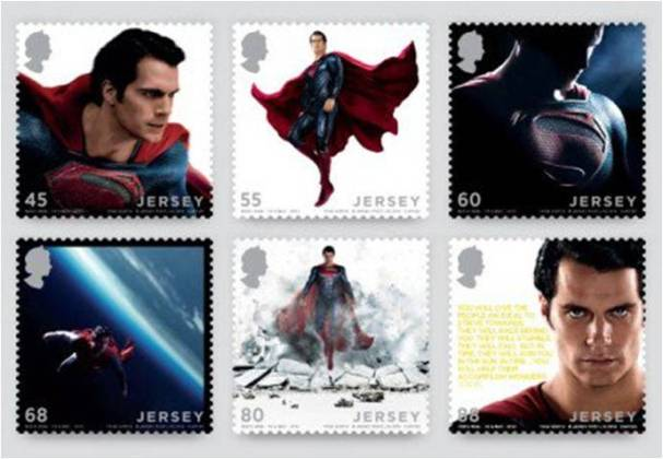 Superman Jersey stamps