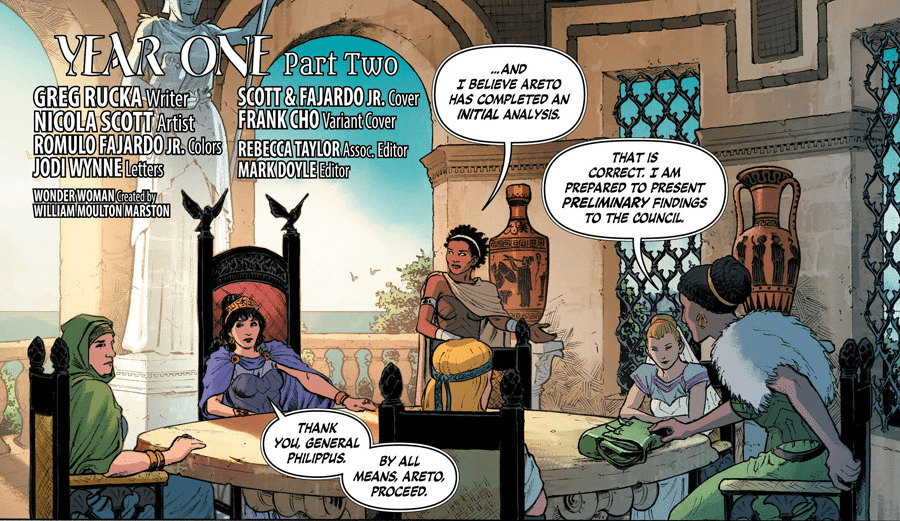 Greg Rucka (Writer). Nicola Scott (Artist). Romulo Fajardo Jr. (Colourist). Jodi Wynne (Letterer). DC Comics. August 10th, 2016.
