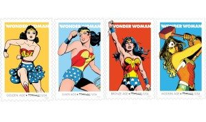 Wonder Woman Stamps Released Oct 2016 designed by Greg Breeding