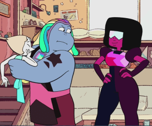 Bismuth reunites with the Crystal Gems. © Cartoon Network