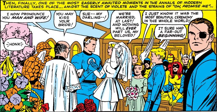 The Wedding Issue: Sue Storm and Reed Richards