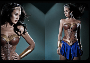 Megan Gale as Wonder Woman for George Miller's Justice League: Mortal