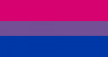 Bi flag, image from glaad.org